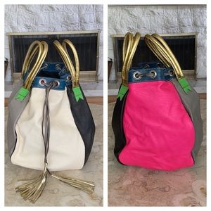 Rare Meredith Wendell Leather Bucket Bag